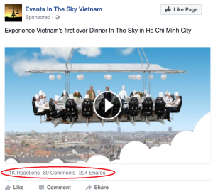 Facebook - Engagement Audience (Events In The Sky)