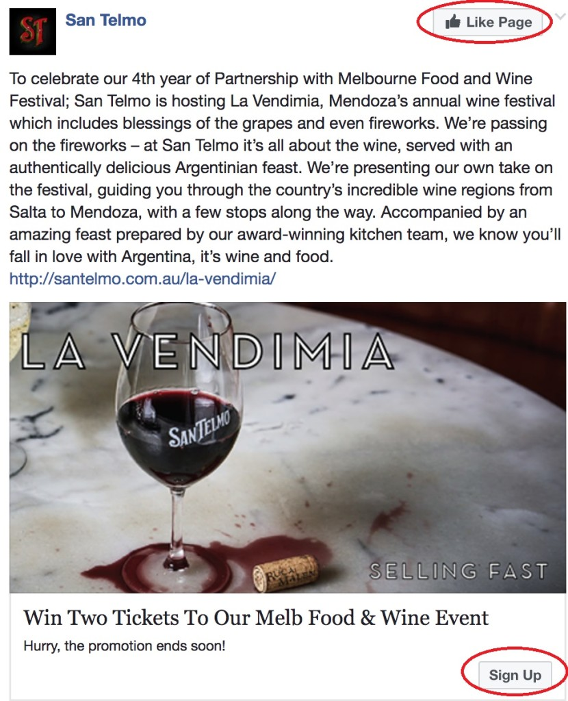 San Telmo - FB ad