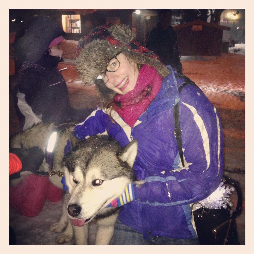 Iggy the Alaskan Malamute with Theresa
