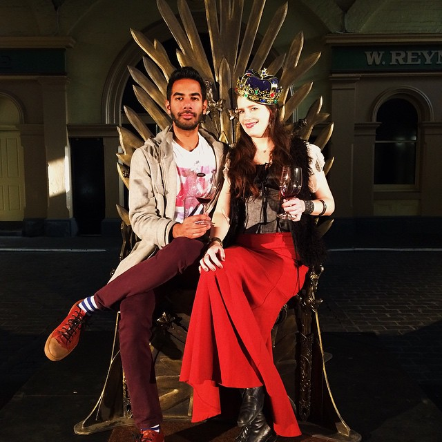 The Iron Throne has been claimed by The Plus Ones for the day. @gameofrhones, we love everything about you. Thanks for taking us to Westeros for the afternoon. #wineiscoming #melbourne #gameofrhones #wine #winefearival #invite #theplusonesmelbourne