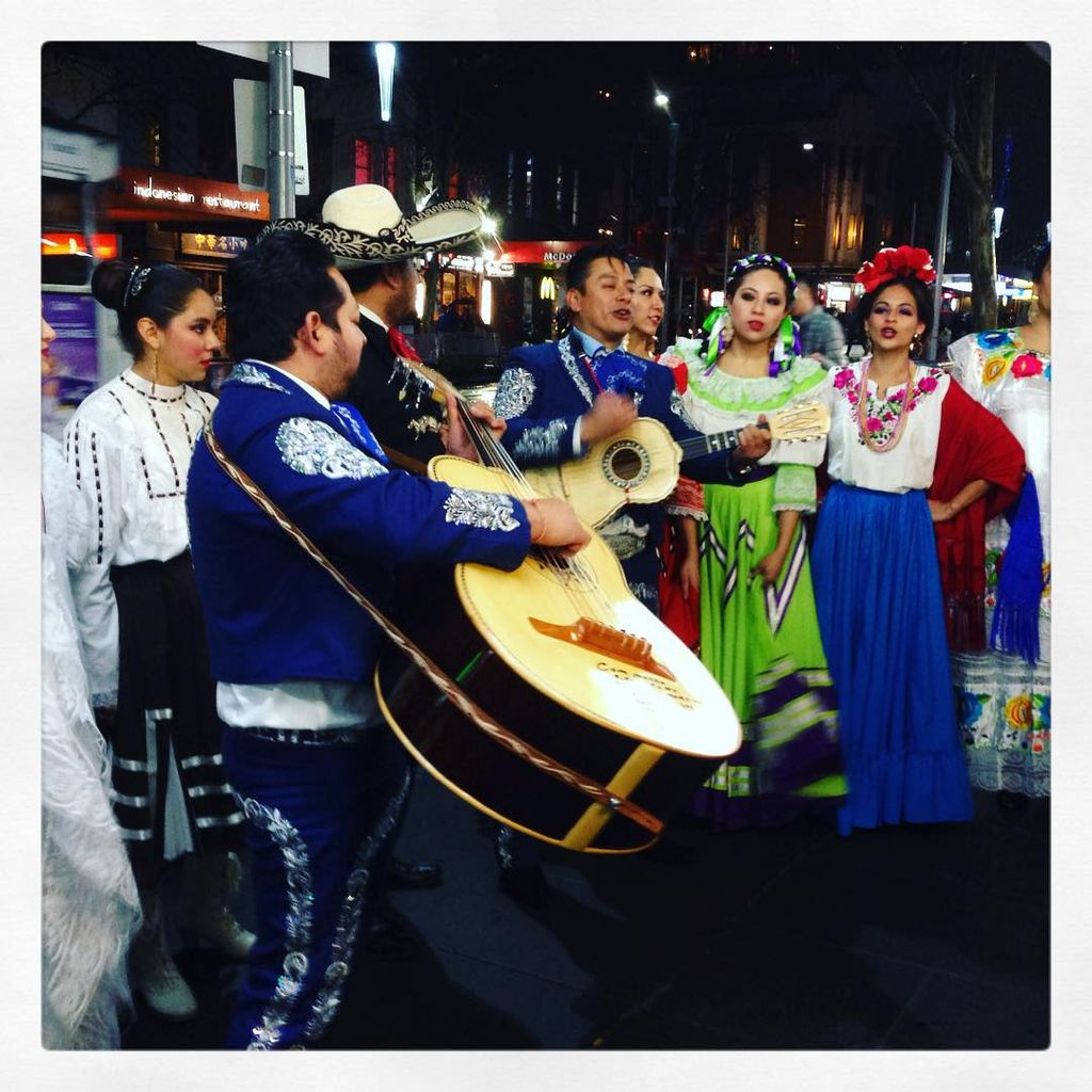 Bet you haven't seen this before! A mariachi band + traditionally-dressed ladies from Jalisco. We're on a progressive dinner around Melbourne to celebrate excise heritage. Party like the Mexicans do at @mmexicanfestival on the 13th! -Theresa #Melbourne #mmexfestau #mexico #mexican #mexfest #invite #theplusonesmelbourne
