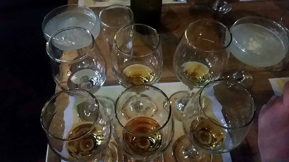 Plantation Rum tasting selection, with complimentary Daiquiri's