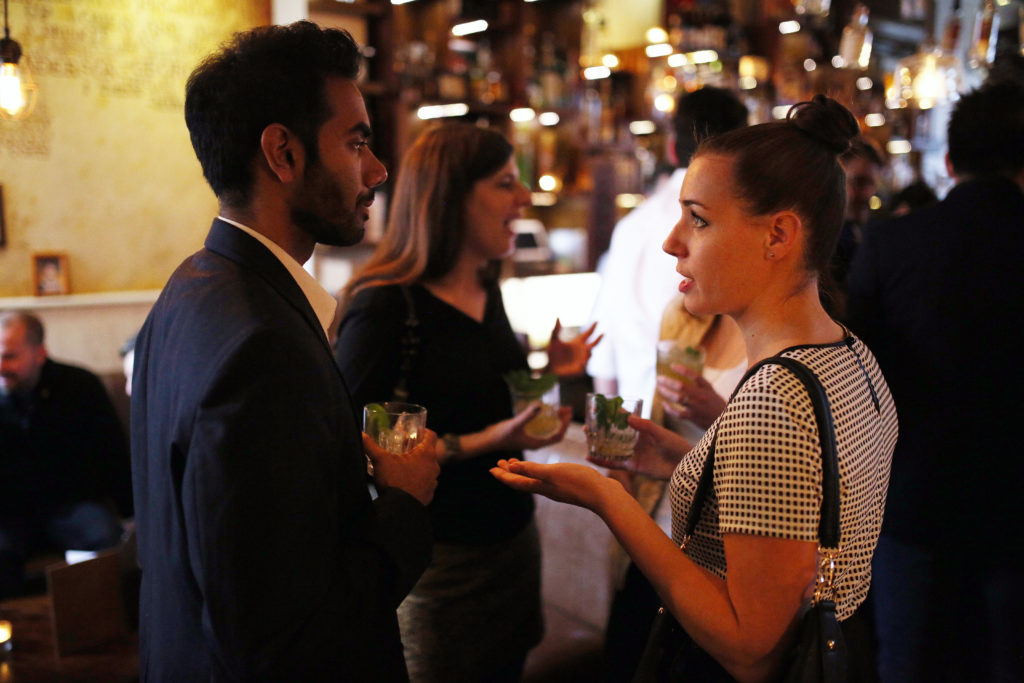 Guests enjoy cocktails at the PDT Pop-Up at The Attic, Black Pearl on August 6, 2015 in Melbourne, Australia.
