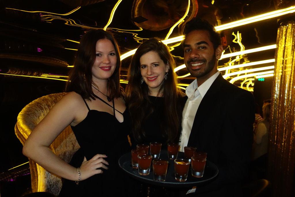 Charli, Theresa, and Rukmal with the famous shots