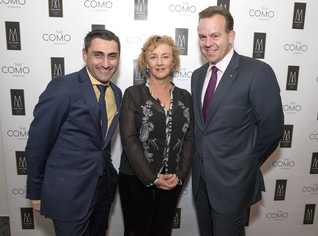 John Korkou (The Como Melbourne), Debra Oswald (author and co-creator of TV series Offspring), Jeremy Healy (General Manager, The Como Melbourne) - photo courtesy Literary Collection