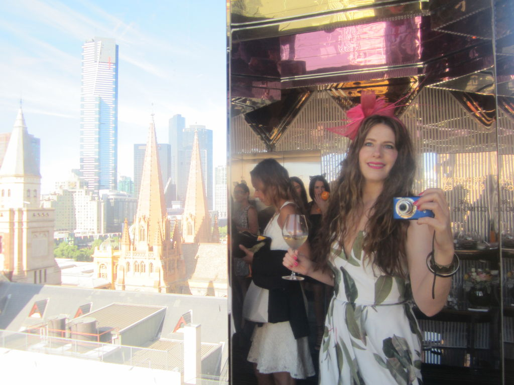 Theresa with the view from Mon Bijou at the Veuve Clicquot breakfast