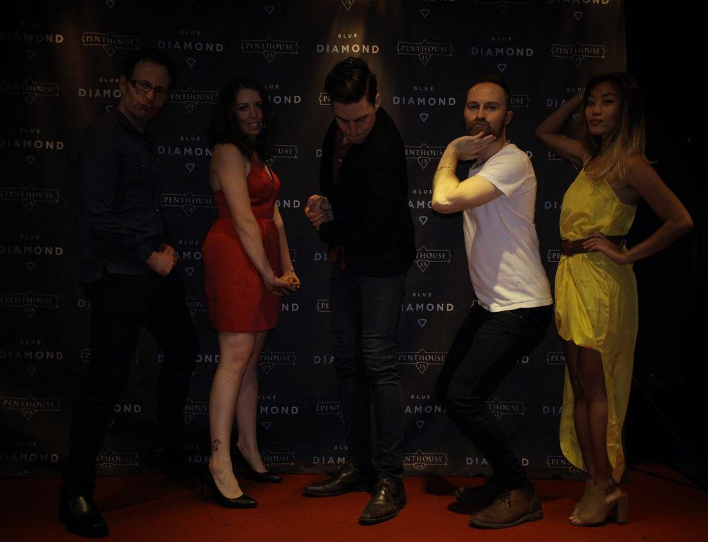 TPO writers Corey, Charlotte, Matt, Rian, and Sheena ham it up