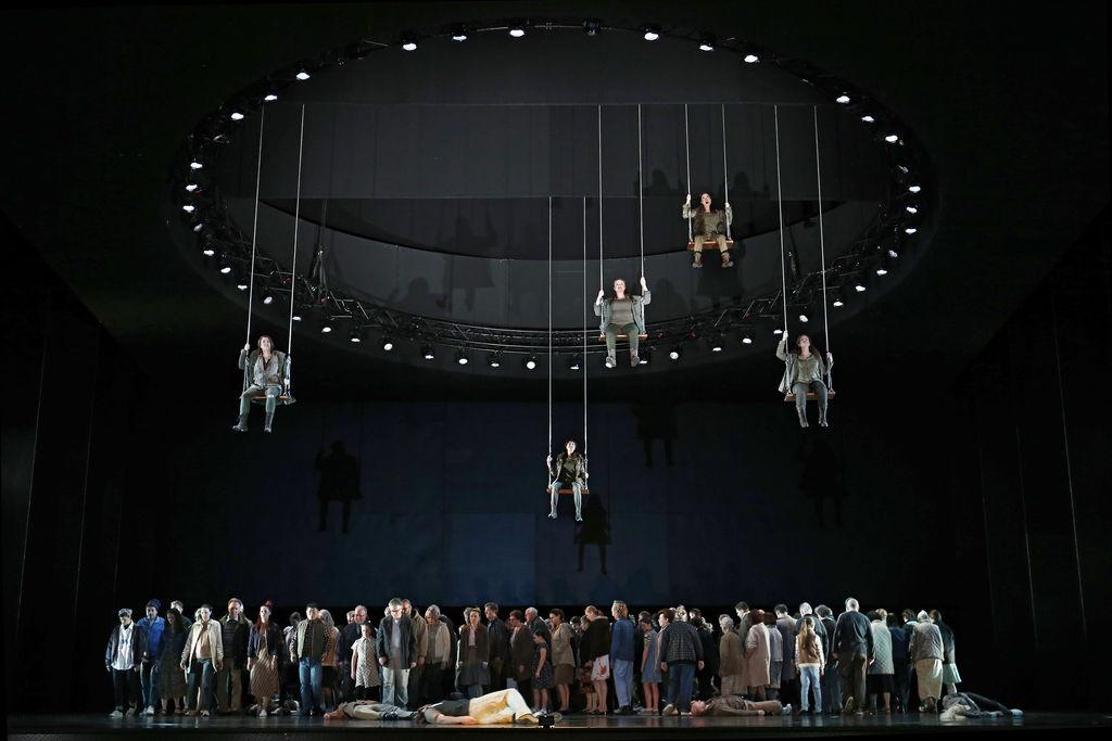 The Valkyries in Opera Australia's 2016 production of Die Walküre.