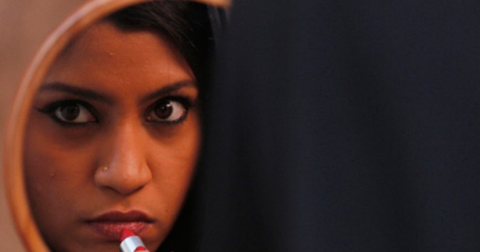 Indian Film Festival lipstick under my burka