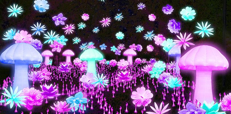 Glow Winter Arts Festival Alice's Garden