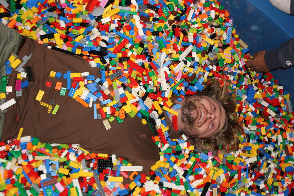 Big kids enjoying LEGOLAND at the first Adults only night