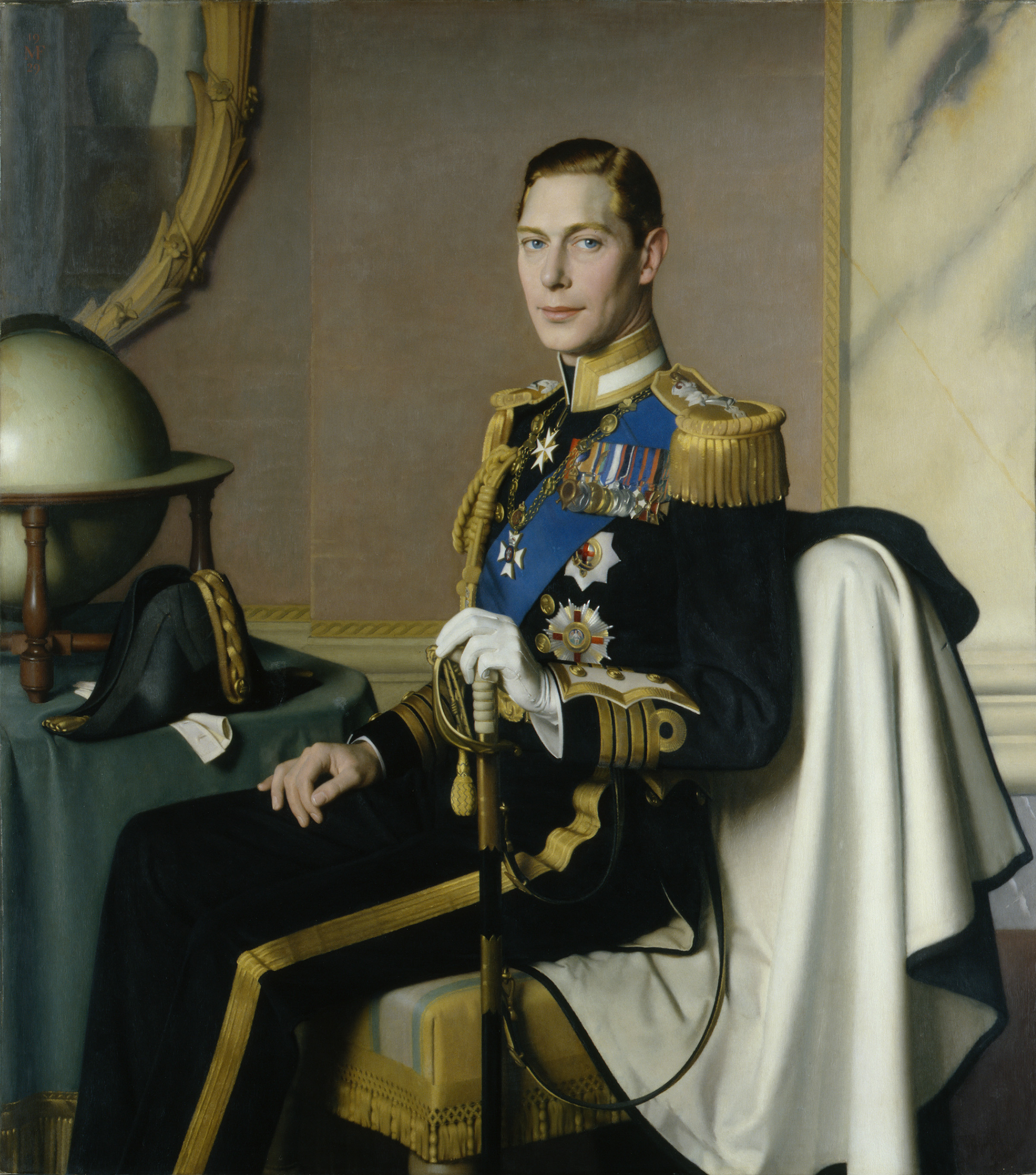 King George VI By Meredith Frampton, 1929 © National Portrait Gallery, London private collection. Lent by Trustees of Barnardo's, 1997