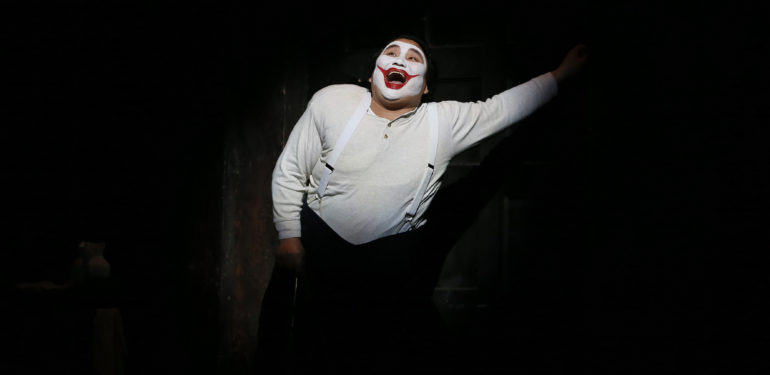 Amartuvshin Enkhbat as Rigoletto in Opera Australia's 2019 production of Rigoletto at Arts Centre Melbourne.