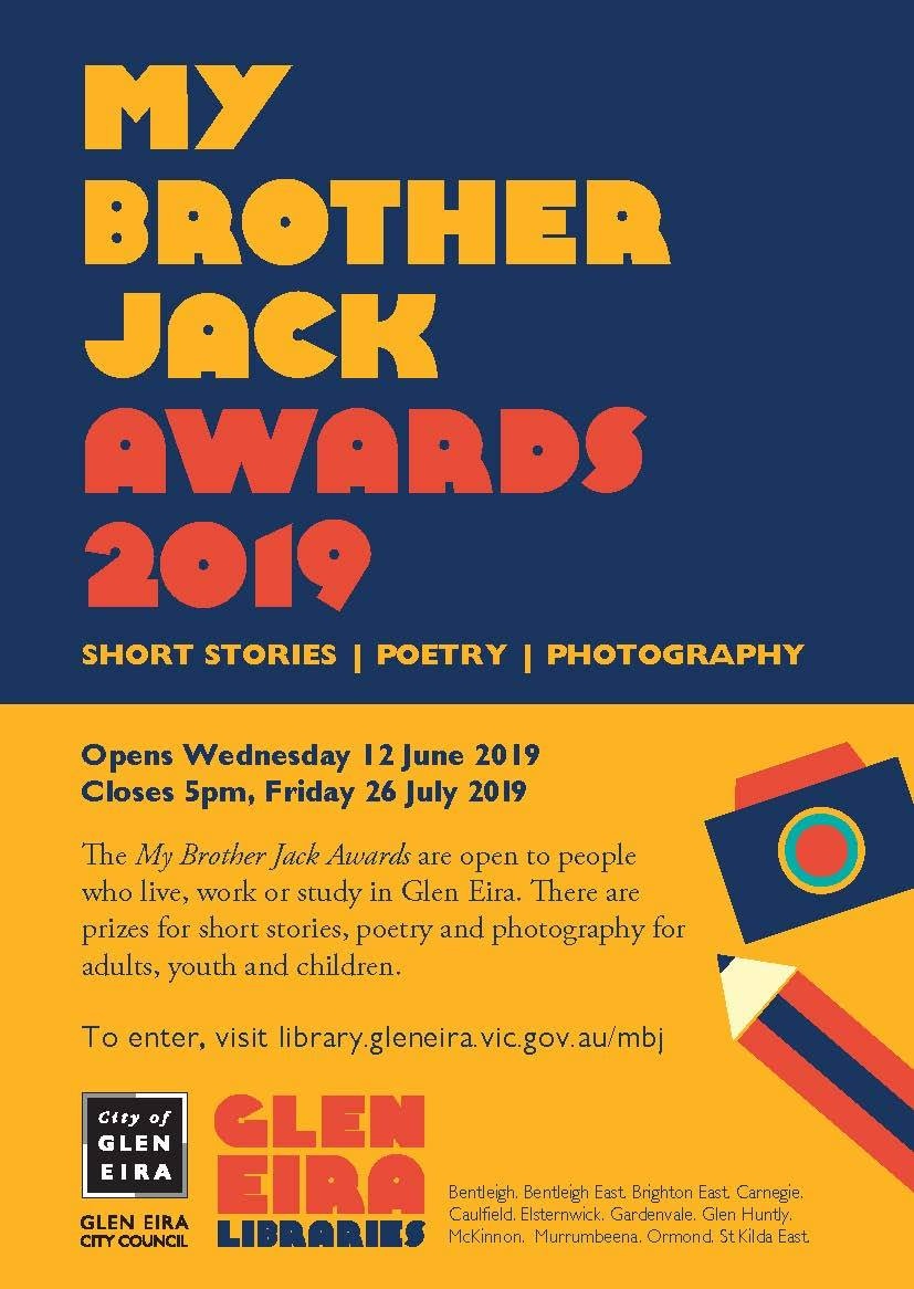 2019 My Brother Jack Arts award - Glen Eira
