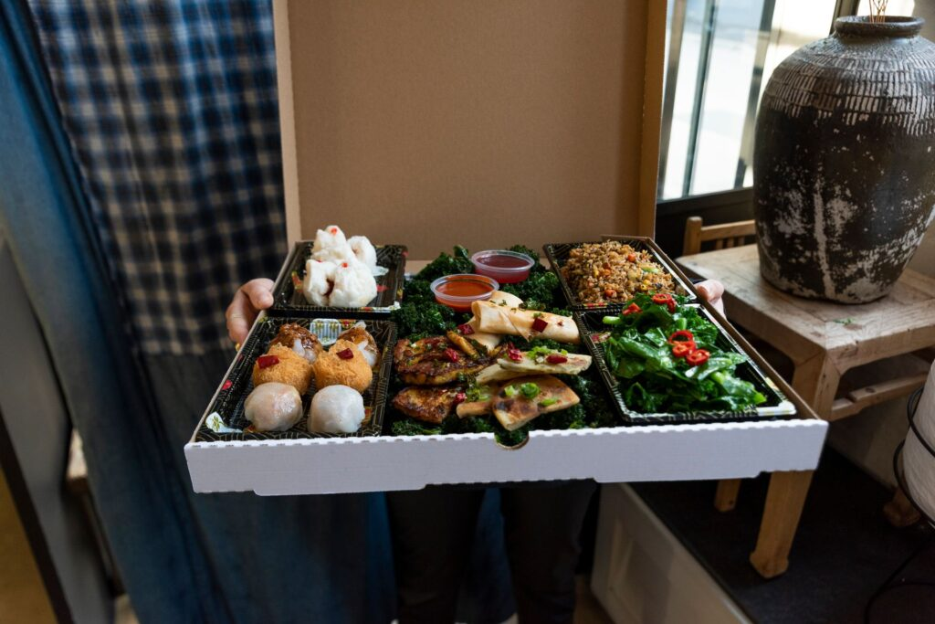 David's vegan yum cha box