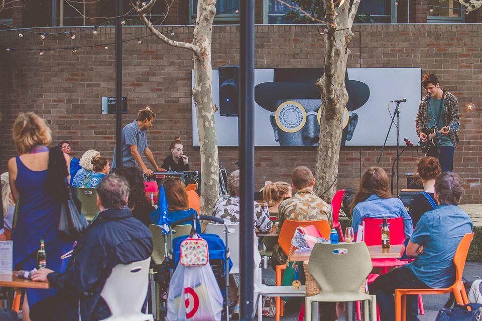 Ed Saloman at Courtyard Sessions, Seymour Centre | photo: Nathan Atkins