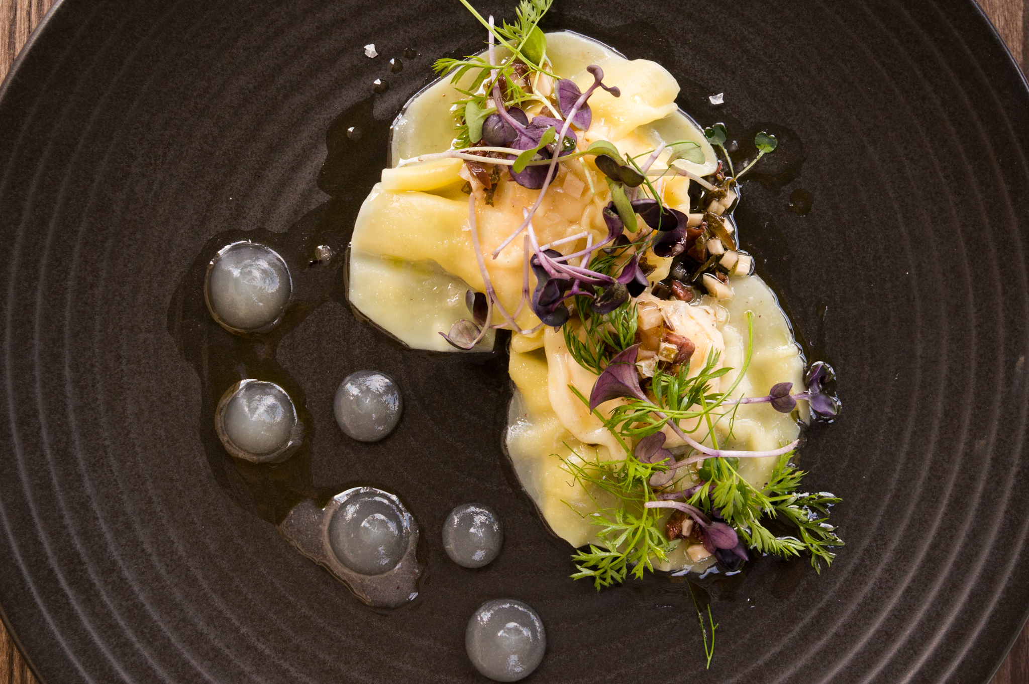 Prawn Ravioli at Bellbird Bar + Dining
