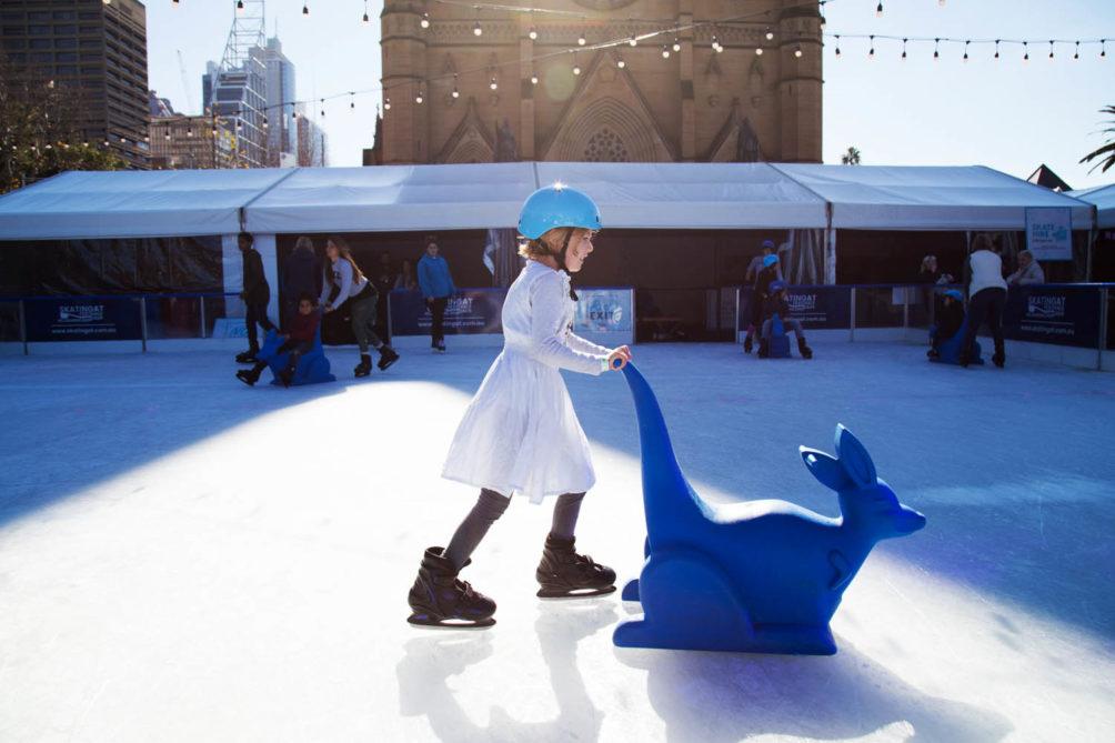 Skating At Cathedral Square Sydney