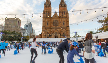 Skating At Cathedral Square Sydney