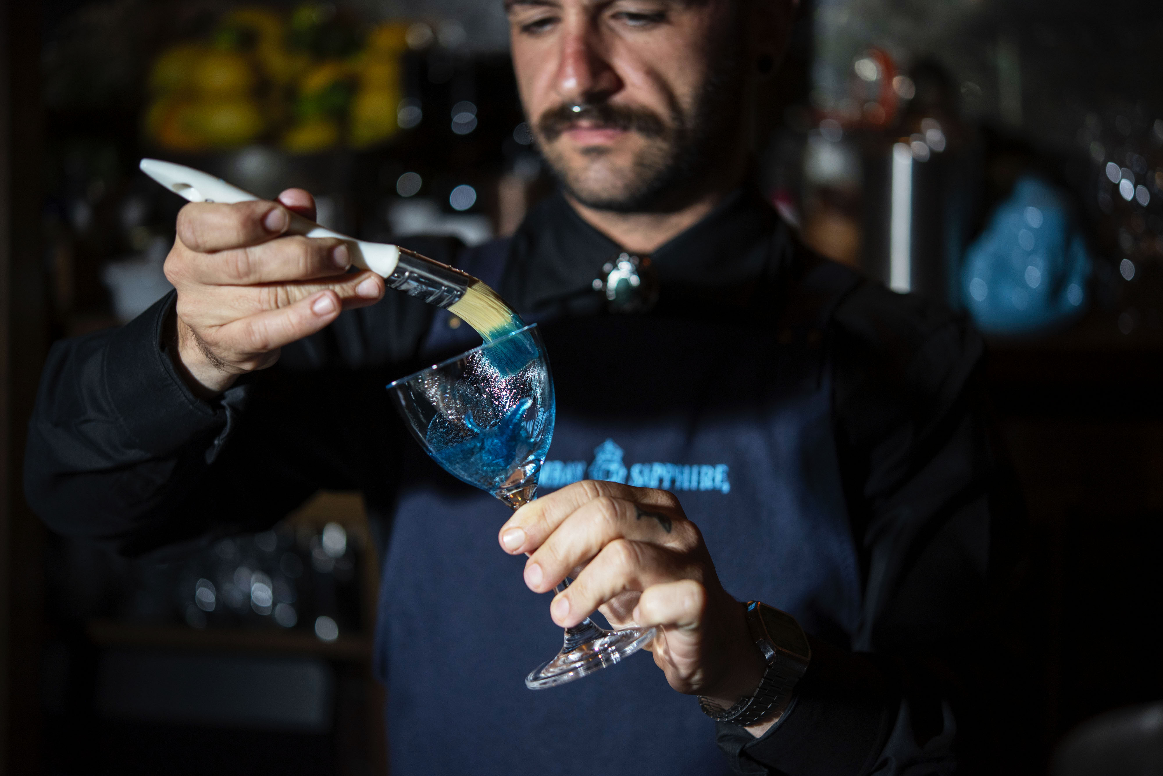 Alan Walsh X Bombay Sapphire art exhibition at The Barber Shop