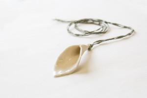 Ceramic Lily Pendant