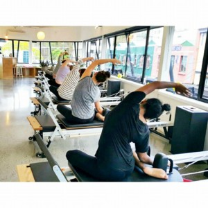 Exercise class on reformer machines