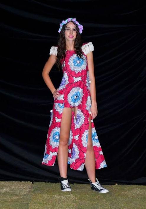 a model on the Bride Zilla runway - photo courtesy Bride Zilla Events