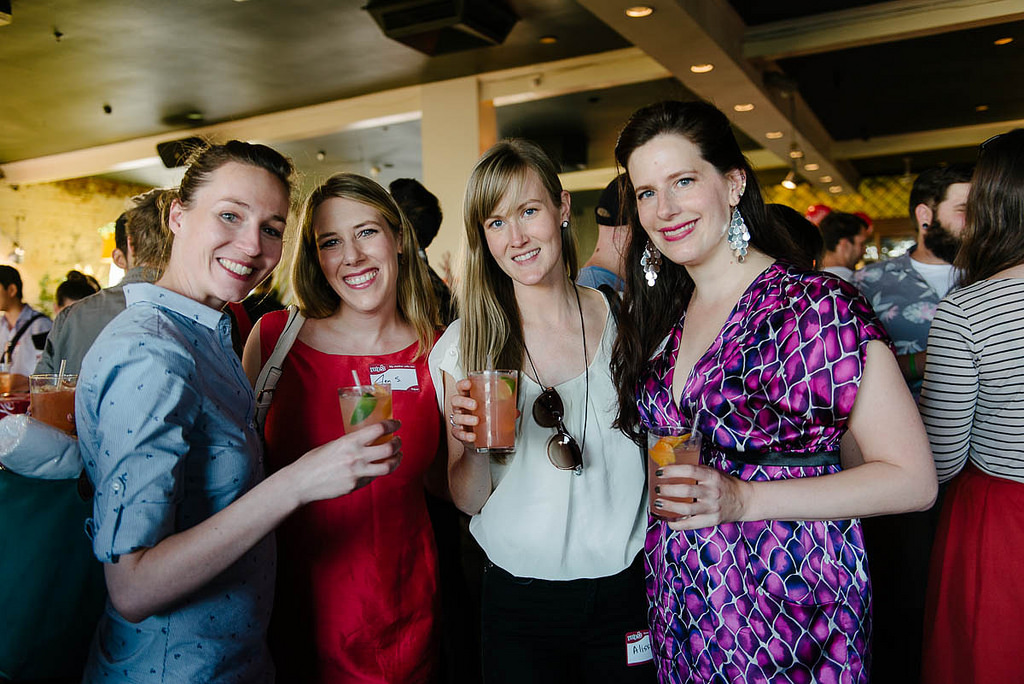 Theresa and her girlfriends - photo courtesy Photobat
