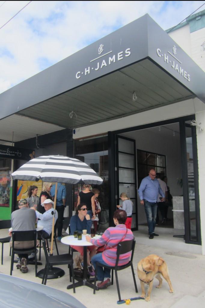 CH James' exterior on Station Street, Fairfield